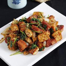 酱香孜然豆腐的做法