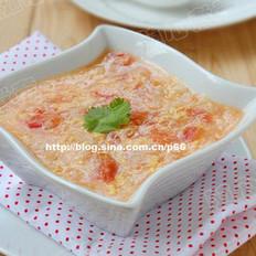 番茄鸡蛋面疙瘩汤的做法