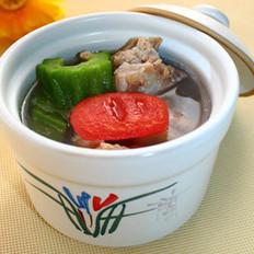 番茄苦瓜藜麦排骨汤
