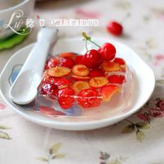 樱桃果冻的做法