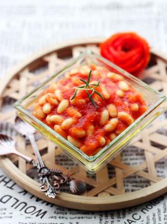 茄汁黄豆的做法