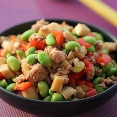 肉末豆米杏鲍菇丁