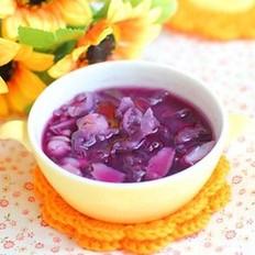 紫薯銀耳蓮子百合糖水的做法