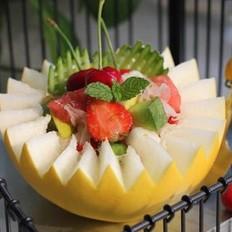 桂花蜜果篮的做法