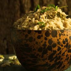 槐花麦饭的做法