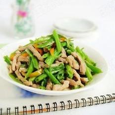 空心菜梗炒肉丝的做法