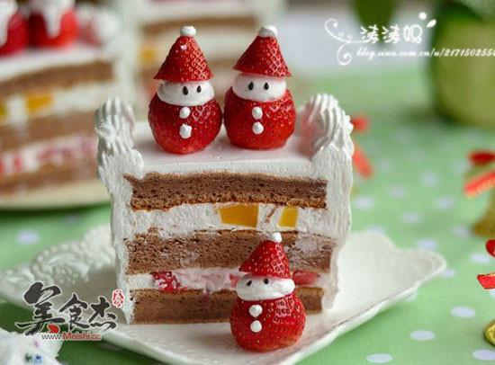 圣诞小雪人蛋糕的做法