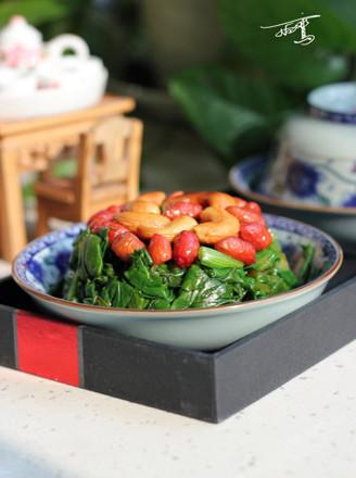 果仁菠菜的做法