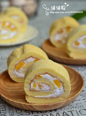 黄桃蛋糕卷的做法