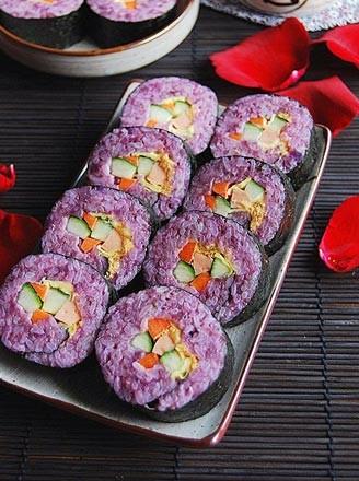 紫薯寿司的做法【步骤图】_菜谱_美食杰