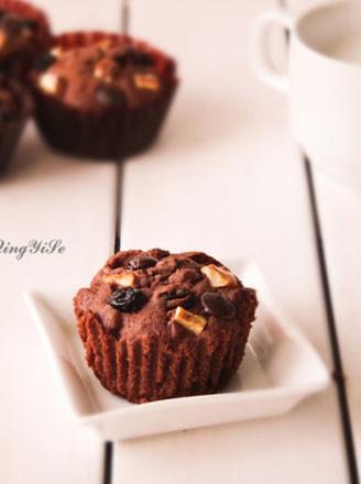 鲜果巧克力小蛋糕的做法