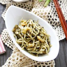 橄榄菜煸茭白的做法