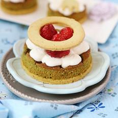 草莓开心果奶油塔