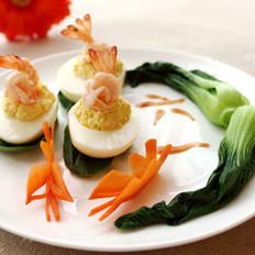 鲜虾豆腐酿天使蛋的做法