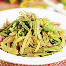 豆角榨菜炒肉丝的做法
