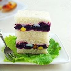 紫薯吐司三明治的做法