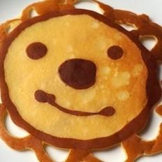 卡通奶香煎餅的做法