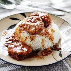 肉丸盖饭的做法