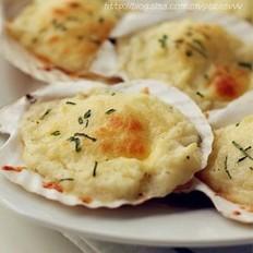 土豆芝士焗扇贝的做法