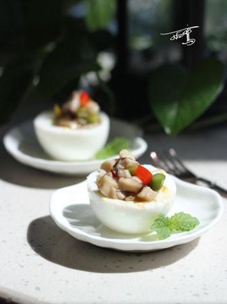 三菇镶蛋盅的做法