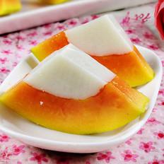 木瓜椰浆冻的做法