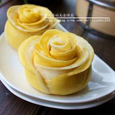 双色玫瑰花卷的做法