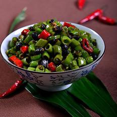 豆豉辣椒炒通菜梗的做法