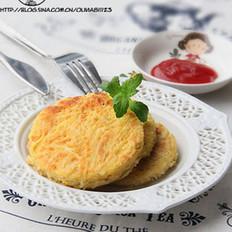 香煎土豆丝鸡蛋饼的做法
