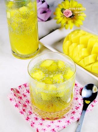 兰香子芒果饮的做法