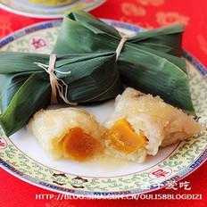 蛋黄肉粽的做法