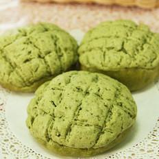 抹茶蜜豆菠蘿包的做法