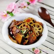 回锅肉烧藕片的做法