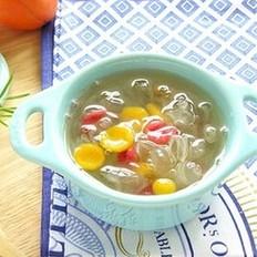 皂角米南瓜猫耳糖水的做法