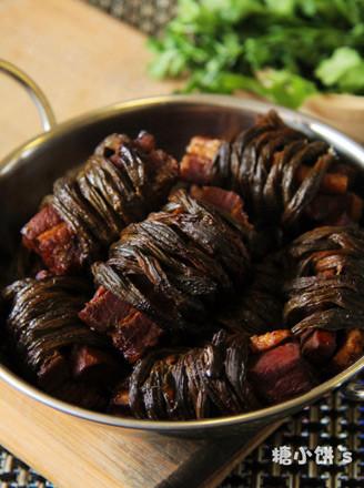 豇豆干香扎肉的做法