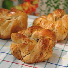 花形肉松面包的做法