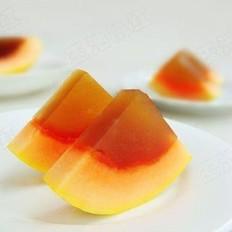 木瓜酸梅冻的做法