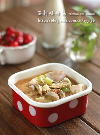 海鲜味噌汤的做法