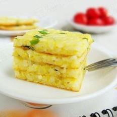 鸡蛋米饭饼的做法