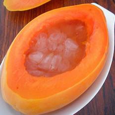 皂角米木瓜盅的做法
