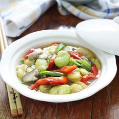 青红烩蚕豆的做法