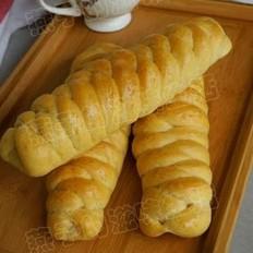 无糖麦片面包的做法