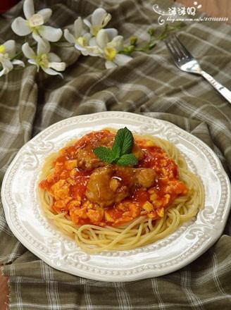 番茄蛋鸡扒意大利面的做法