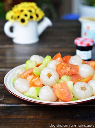 荔枝炒丝瓜的做法