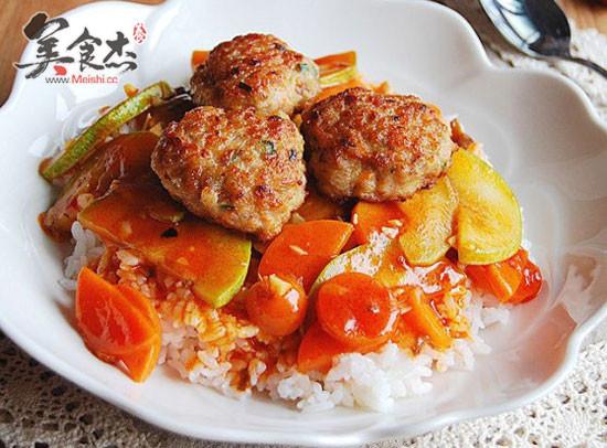 鲜虾肉饼盖饭的做法 菜谱