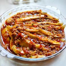 蒜泥肉末茄子的做法
