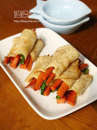 白灵菇烤肠卷的做法