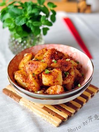 香辣锅巴土豆的做法