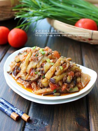 肉末炒双茄的做法