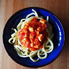杏鲍菇番茄意面的做法