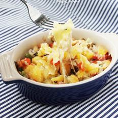 水果奶酪焗饭的做法